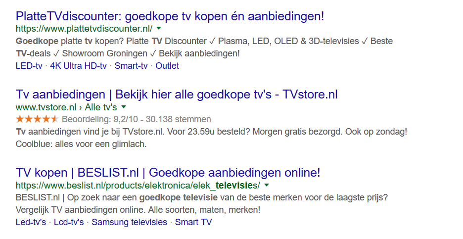 1 - goedkope televisie