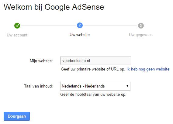 Aanmelden Google Adsense website