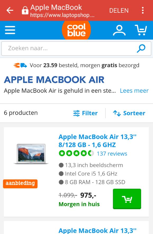 afbeelding 2 - laptopshop mobile