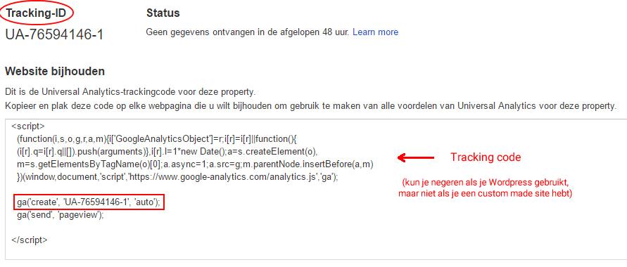 google analytics tracking id code