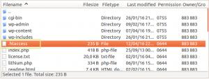 htaccess in root folder