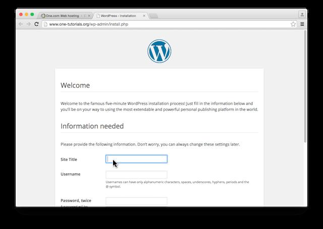 wordpress wp-admin inloggen